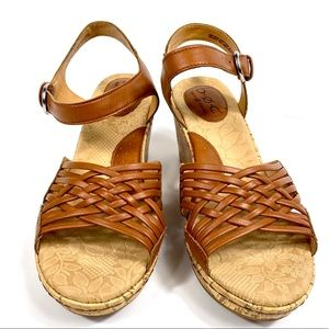 "BORN CONCEPT ""TOOTSIE"" CORK WEDGE SANDALS"